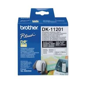 ROLO ETIQUETAS COMPATIVEL C/ BROTHER DK11201 29MM x 90MM (400 ETIQ)