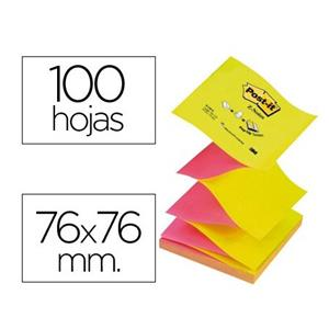 BLOCO DE NOTAS ADESIVAS Z-NOTES FUCSIA/AMARELO POST IT