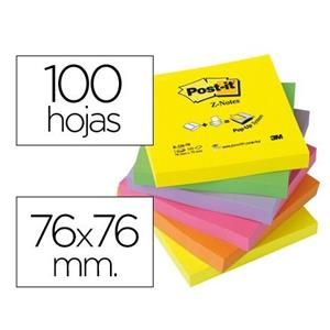 BLOCO DE NOTAS ADESIVAS Z-NOTES CORES SORTIDAS POST IT