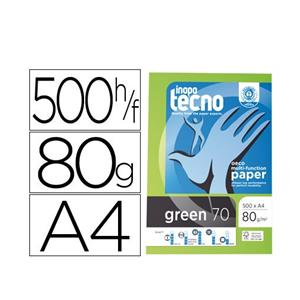 RESMA PAPEL FOTOCOPIA INAPA SPEED GREEN A4 80GR.