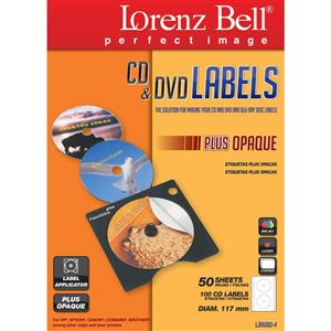 ETIQUETAS LORENZ BELL P/ CD LABEL PLUS MATE 117-11MM 50FLS