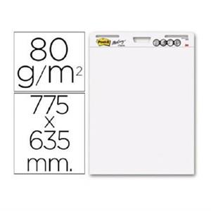KIT 3 x BLOCOS LISOS Post-it® 63.5x77.5cm 30FLS (P/ FLIPCHART)