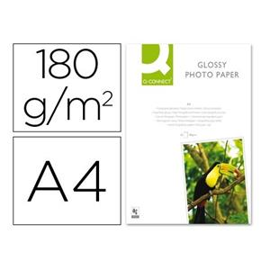 PAPEL FOTO GLOSSY 180 G/M2. DIN A4 20 FOLHAS Q-CONNECT
