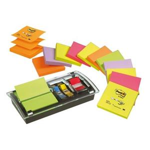 DISPENSADOR E ORGANIZADOR Z-NOTES PRETO/TRANSPARENTE POST IT