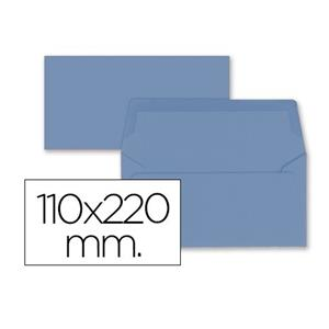 ENVELOPE COR AMERICANO 110 X 220 MM AZUL LP