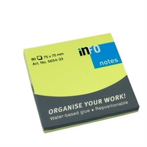 POST IT INFONOTES 75x75mm 80FLS VERDE FORTE