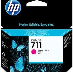 KIT 3 TINTEIROS HP 711 MAGENTA (29ML) ORIGINAL