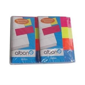 SINALIZADORES PLASTICO ALBAN PAGE MARKER 4x20x50mm 160FLS 4xCORES FLUORESCENTES