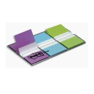 SINALIZADOR Post-it® INDEX MEDIO 25,4x43,1mm [20FLS] AZUL + VERDE + ROXO