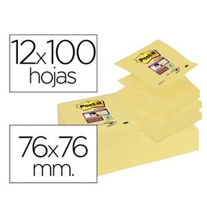 BLOCO DE NOTAS ADESIVAS SUPER STICKY Z-NOTES AMARELAS POST IT