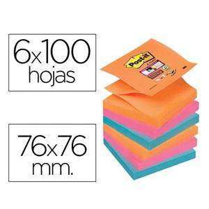 BLOCOS DE NOTAS ADESIVAS SUPER STICKY Z-NOTES CORES SORTIDAS POST IT