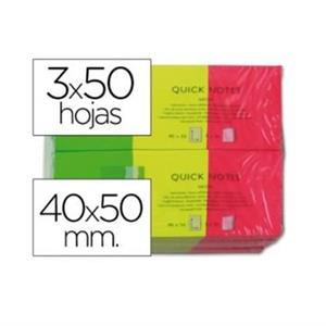 POST IT QC 38x51mm [PACK 3unid.] FLUORESCENTES