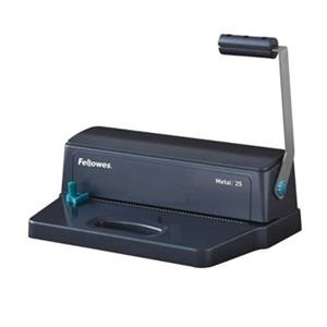 ENCADERNADORA MANUAL FELLOWES 25 [P/ESPIRAL METAL] FURA 10FLS