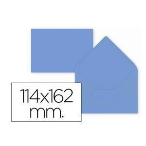 ENVELOPE COR C6 114 X 162 MM AZUL LP