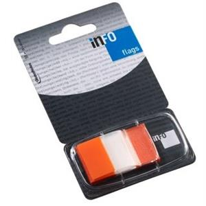 SINALIZADOR INFO NOTES INDEX MEDIO 25x43mm [50unid.] LARANJA