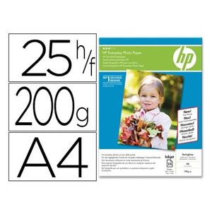 PAPEL FOTO GLOSSY 175 G/M2. DIN A4 HP