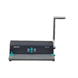 ENCADERNADORA MANUAL FELLOWES 50 [P/ESPIRAL METAL] FURA 12FLS