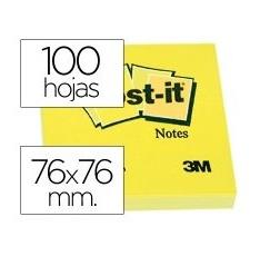 BLOCO Post-it® 76x76mm 100FLS 654 AMARELO