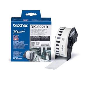 ROLO ETIQUETAS COMPATIVEL C/ BROTHER DK22210 29MM x 30,48MT (CONTINUO)